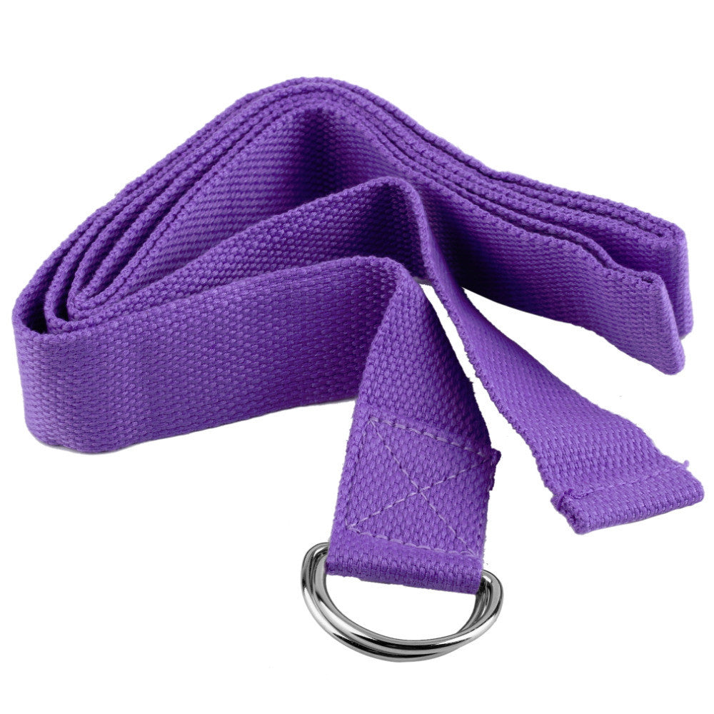 Purple Yoga Stretch Strap D-Ring Belt