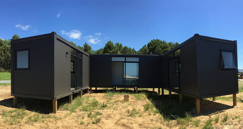 Container home alternative with compliant foundations