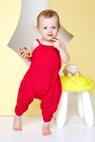 Bright Rose Cutie Jumpsuit
