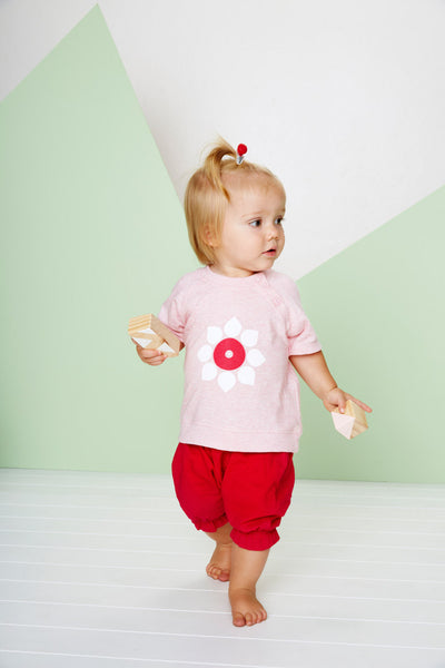 Bright Rose Baby Bloomers