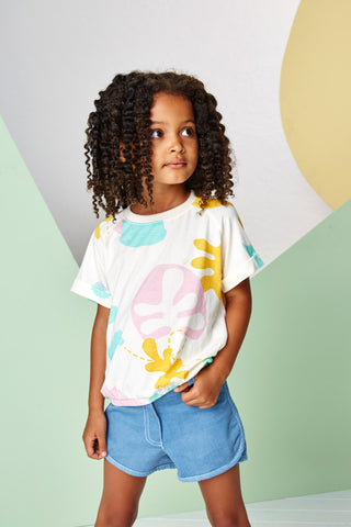 Garden Print Girls T-shirt