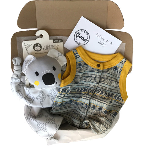 Gift Box in Yellow & Grey