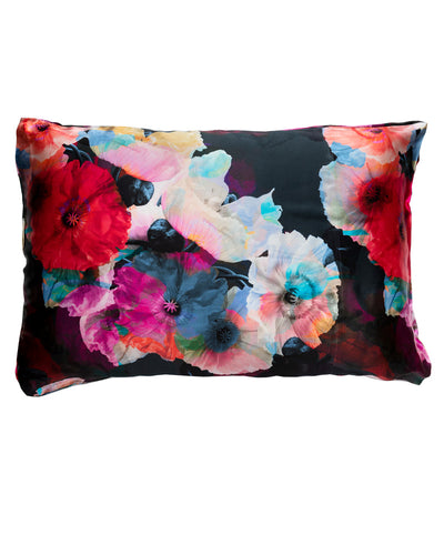 Dark Poppy Silk Pillowcase