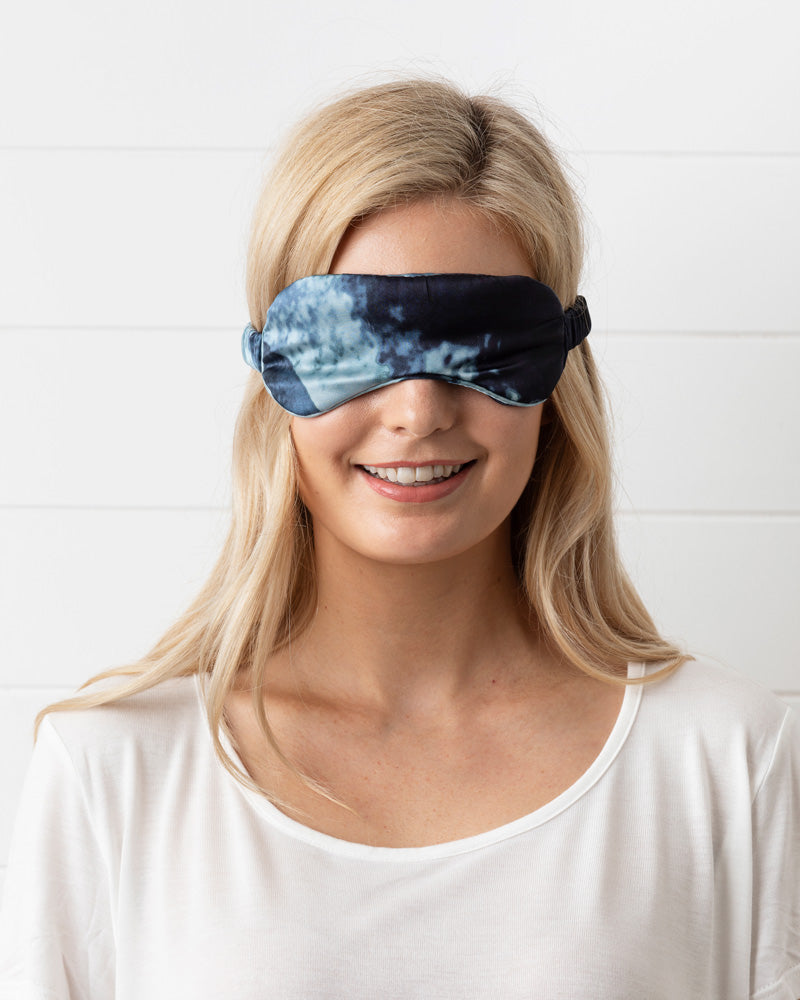 Midnight Ink Silk Eye Mask