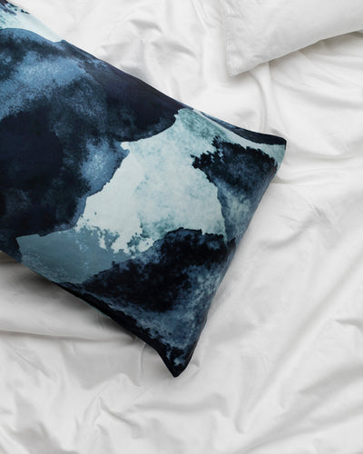 Midnight Ink Silk Pillowcase