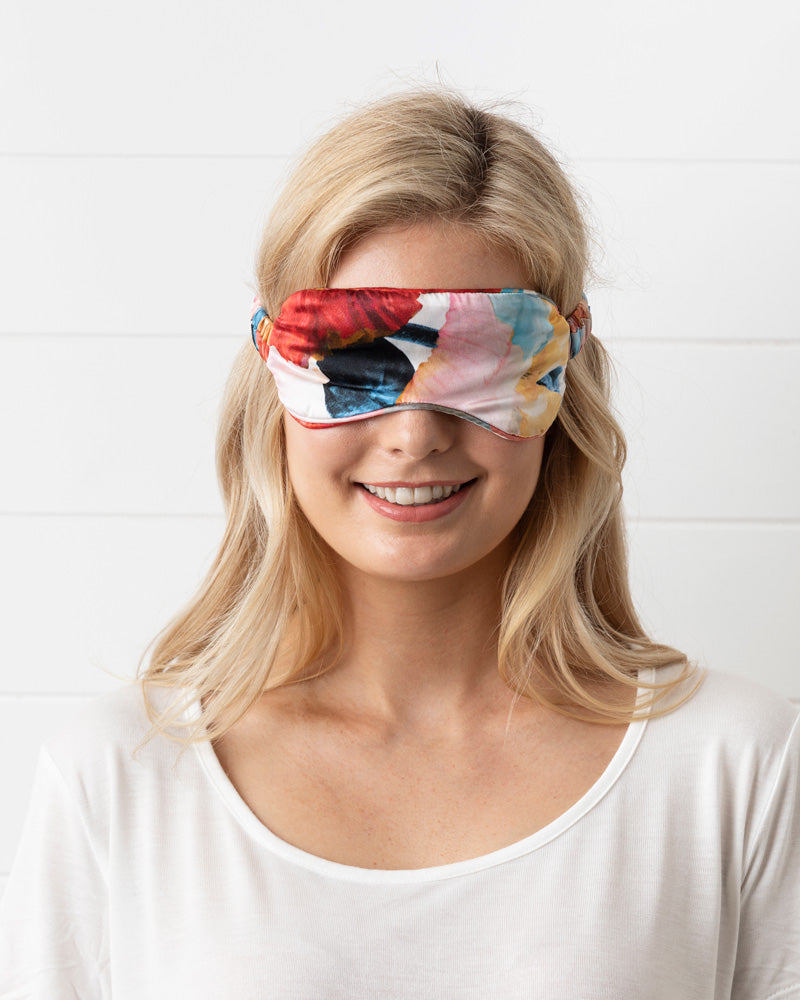 Poppy Silk Eye Mask