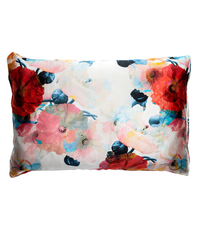 Poppy Silk Pillowcase