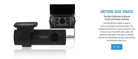 Blackvue DR750S-2CH Truck Dash Cam Detailed Specifications
