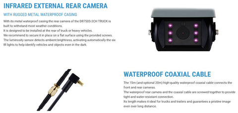 Blackvue DR750S-2CH Truck Dash Cam Detailed Specifications 2