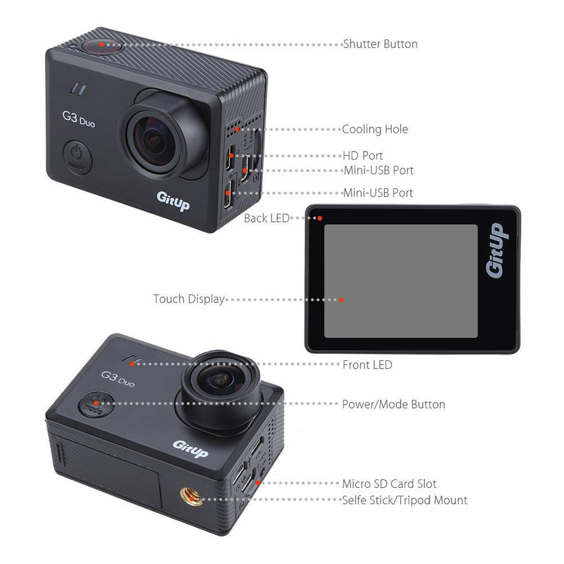 Viofo GitUp G3 Duo Action Camera-Viofo-Linelink Online