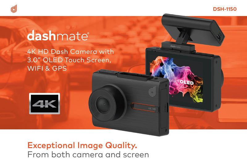 Dashmate DSH-1150 4K Dash Cam With WiFi & GPS-Dashmate-Linelink Online