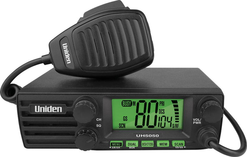 Uniden UH5050 DIN Size UHF CB Mobile – 80 Channels with Large LCD Screen-Uniden-Linelink Online