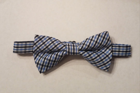 Navy and Light Blue Bow Tie