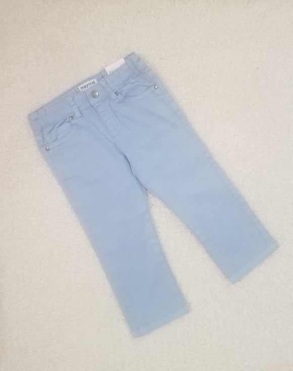Sky Blue Twill Trousers