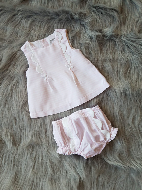 Baby Rose Stripes Short Set