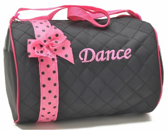 Black & Fuchsia Polka Dot Dance Duffle Bag