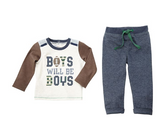 Boys Will Be Boys Two-Piece Set