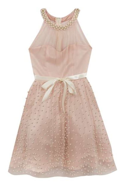 Blush Pearl Halter Dress