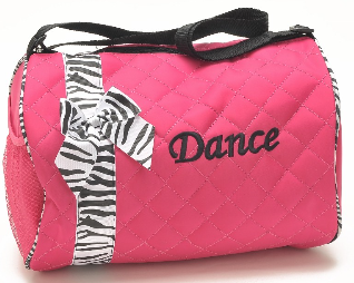 Fuschsia and Black Dance Duffle Bag