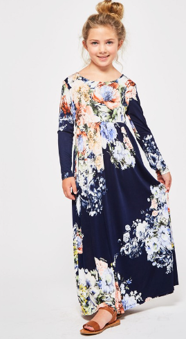 Girls Kiara Floral Maxi Dress