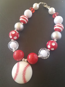 Baseball Bubble Necklace