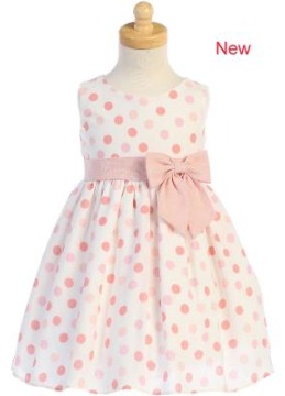 Peach Dot Linen Dress