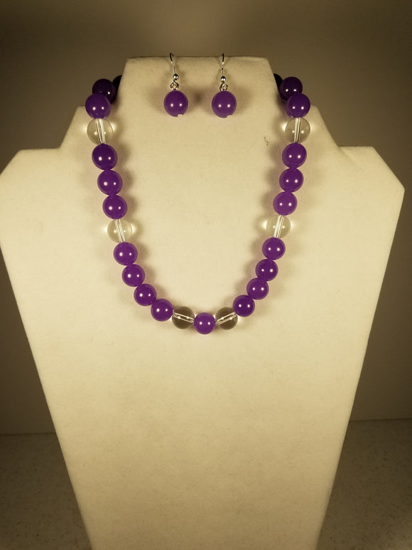 Purple and Clear Gemstone Set