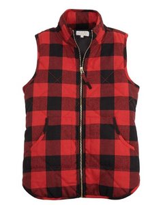 Red Buffalo Check Brodie Vest