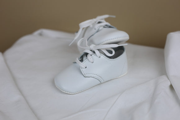 White Infant Boy Leather Shoes