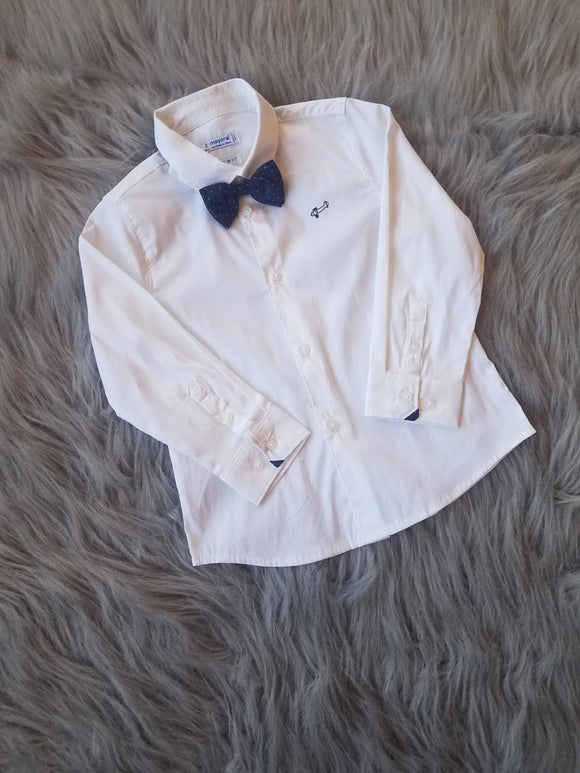 White Longsleeve with Bowtie