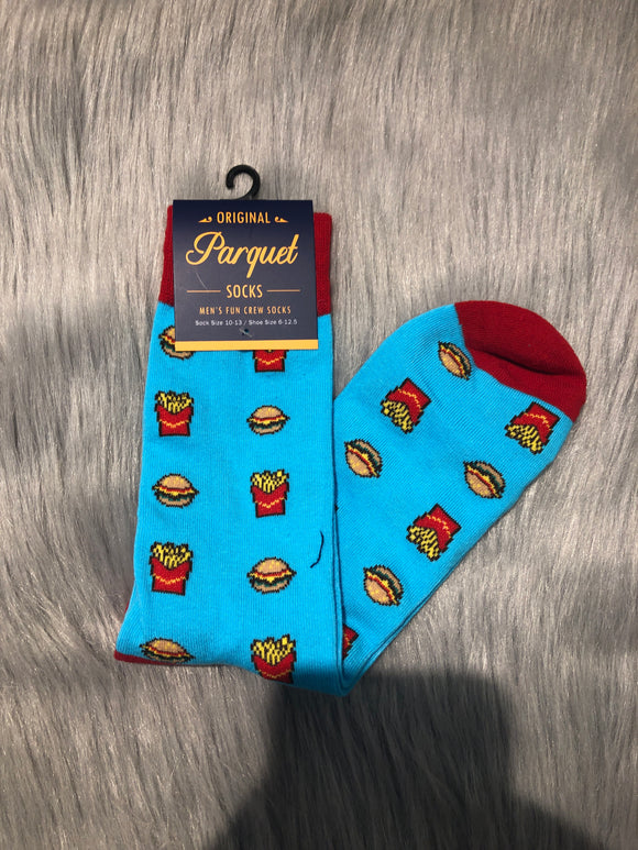 Burgers and Fries Crazy Socks