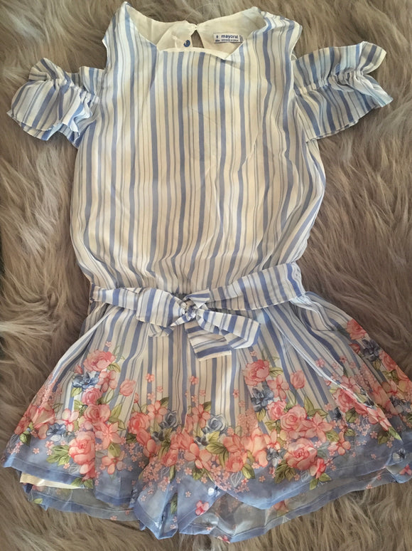 Flower Striped Romper