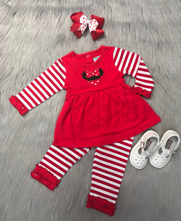 Mouse Ears Applique Legging Set