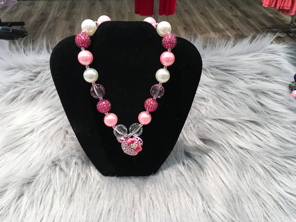 Pink Minnie Bubble Necklace