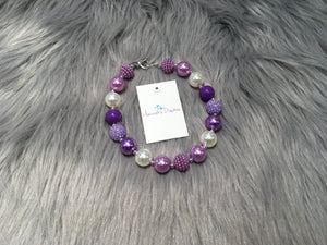 Purple Lover Bubble Necklace