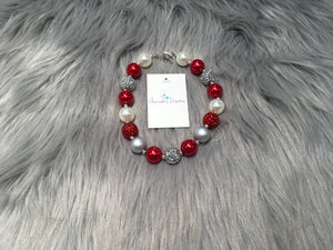 Red and Silver Bubble Necklace