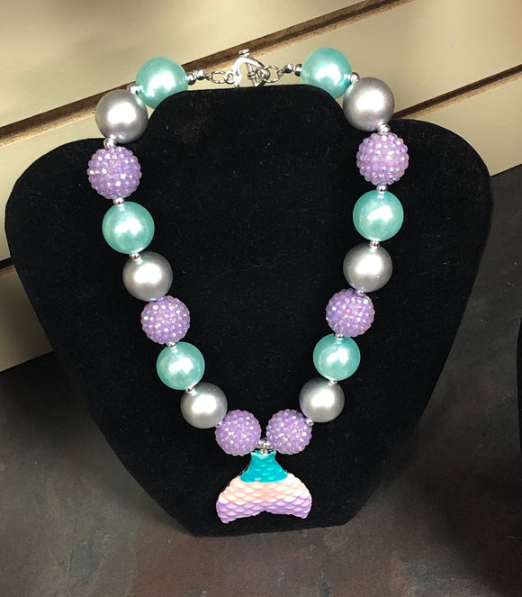 Mermaid Tail Bubble Necklace