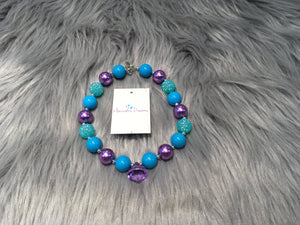 Turquoise Crystal Bubble Necklace