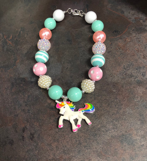 Unicorn Mint Bubble Necklace