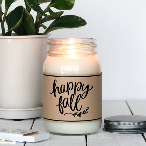 Happy Fall | Spiced Cider Scented Holiday Candle