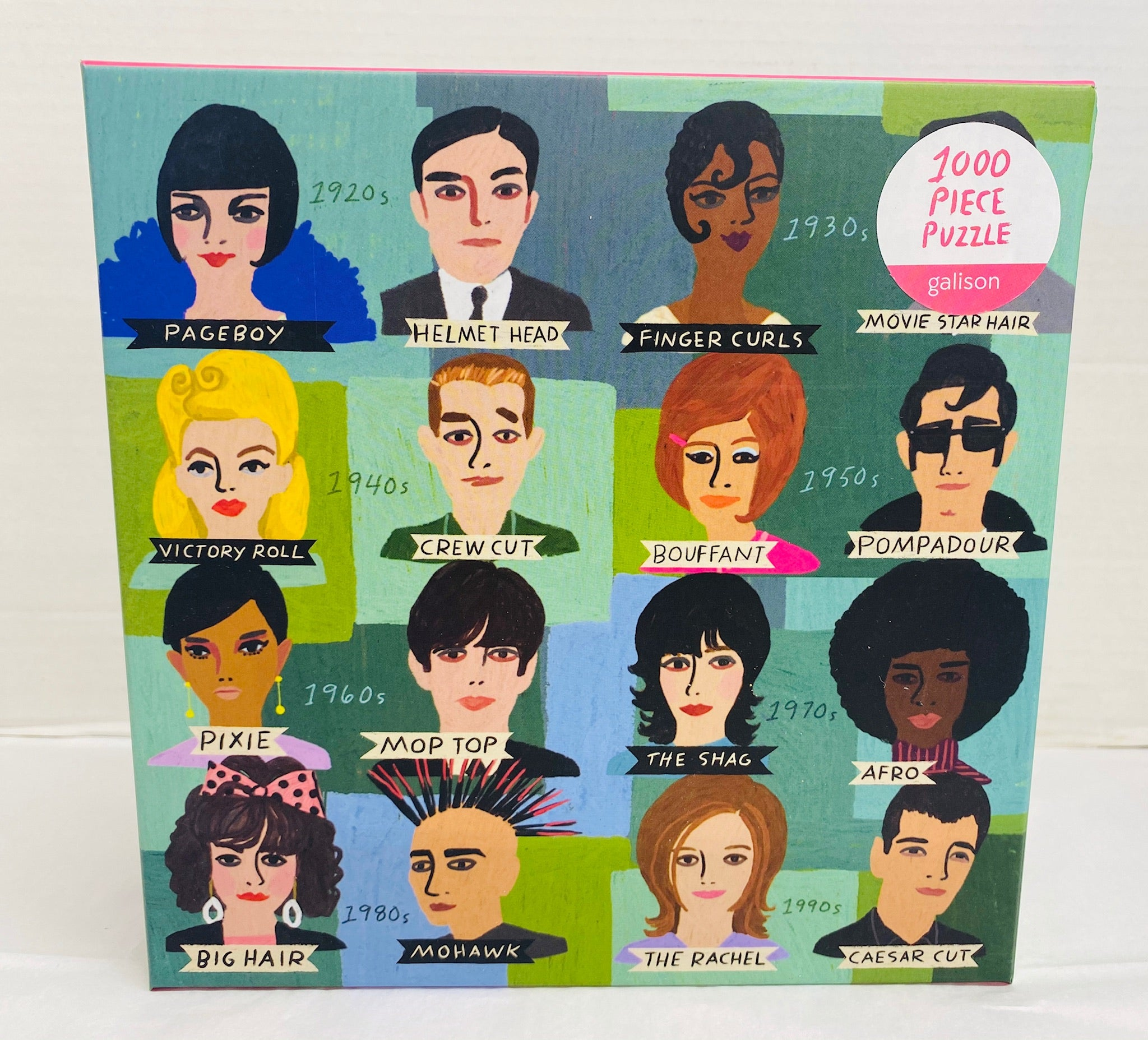 History of Hairdos 1000 piece puzzle