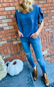 Blouse with Bubble Sleeve