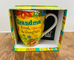 Grandma Kind, Caring, & Thoughtful mug
