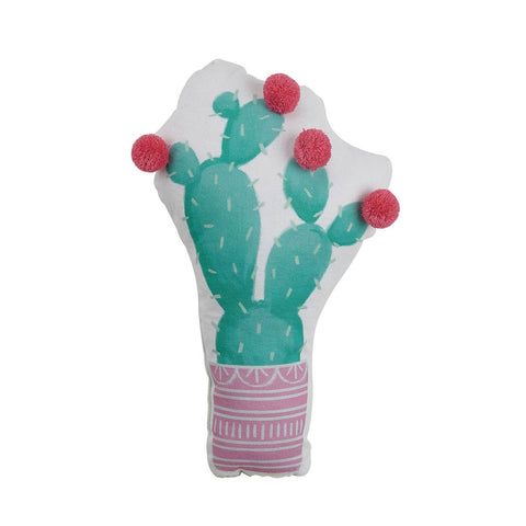 Prickly Pear Cactus Shaped Printed Pillow