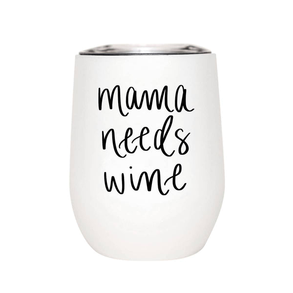 Choice of White and Black Wine Tumbler