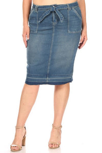 Miriam Denim Curvy Skirt