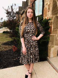 Bella Leopard Dress