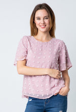 Betty dot top- mauve
