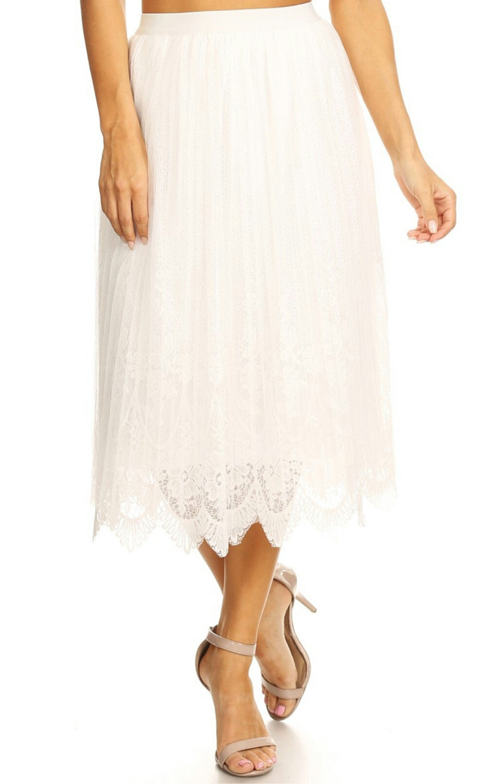 Evelyn Lace Skirt