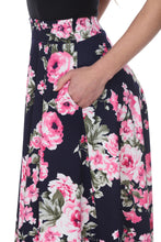 Zoey floral skirt in black